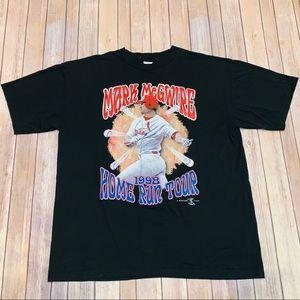 Mark McGwire 1998 Home Run Tour Black T Shirt 2XL